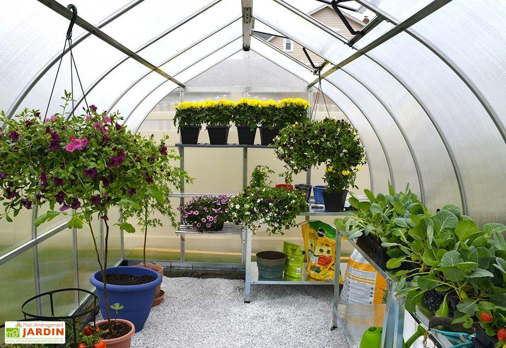 Serre de Jardin en Aluminium et Polycarbonate Bella 8,9 m²