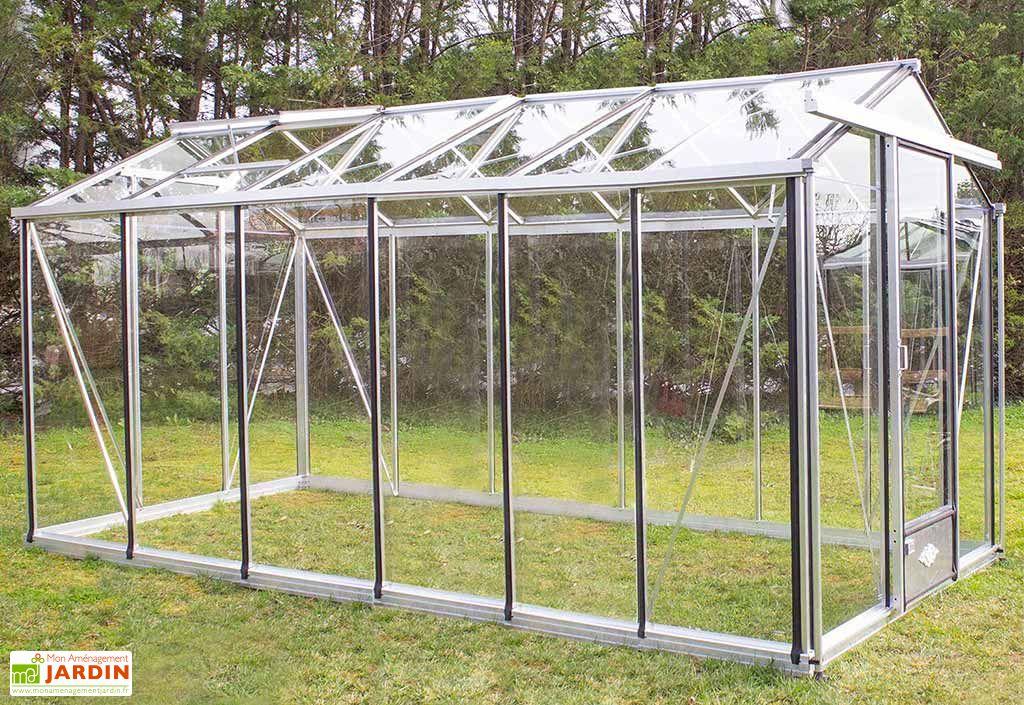 Serre de Jardin en Aluminium et Verre Trempé Lams Essentia 10,8 m²