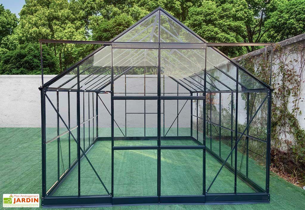 Serre de Jardin en Aluminium et Verre Trempé Green Protect Prima 12,72 m²