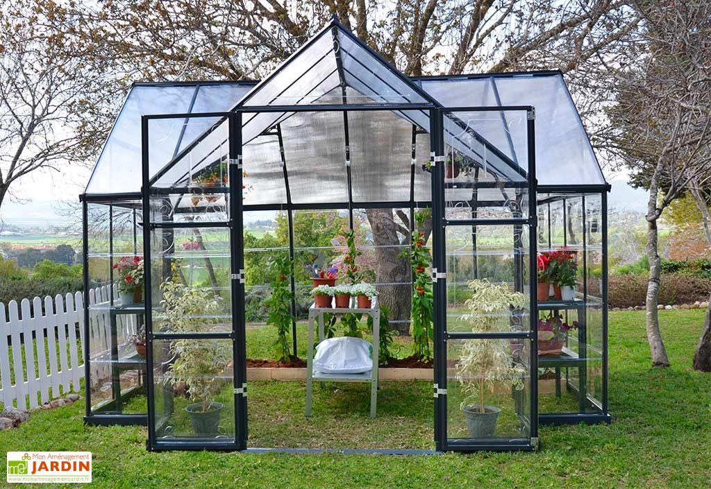Serre de jardin Palram en aluminium et polycarbonate 9 m2