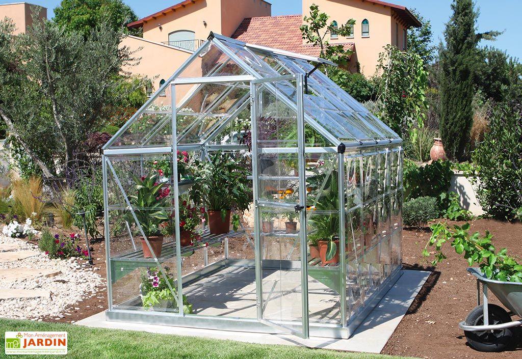 Serre de jardin en polycarbonate et aluminium Palram 5 m²