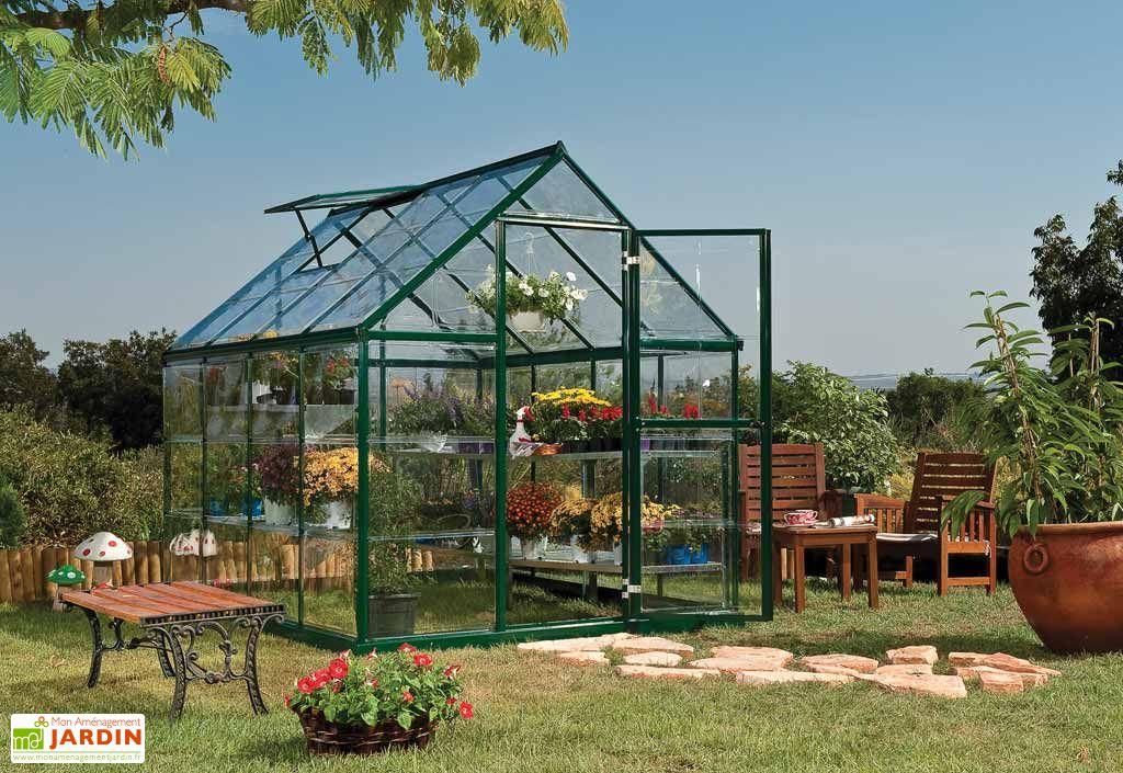 Serre de jardin polycarbonate harmony green 4 6m palram - Serre de jardin polycarbonate ...