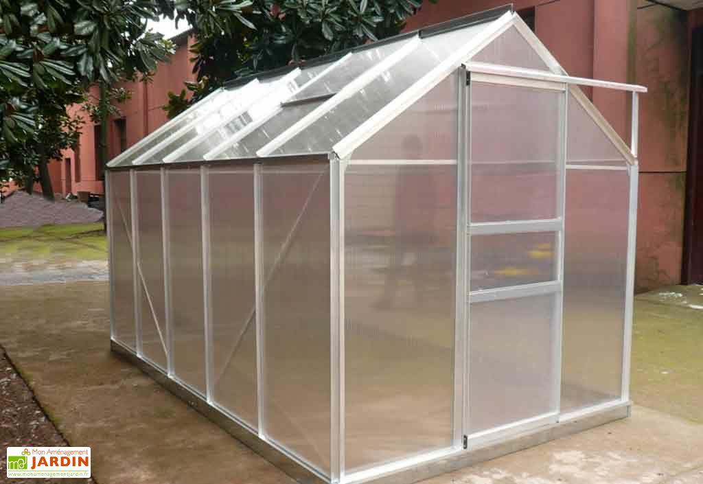 serre de jardin polycarbonate 6 03 m 192x314 habrita. Black Bedroom Furniture Sets. Home Design Ideas