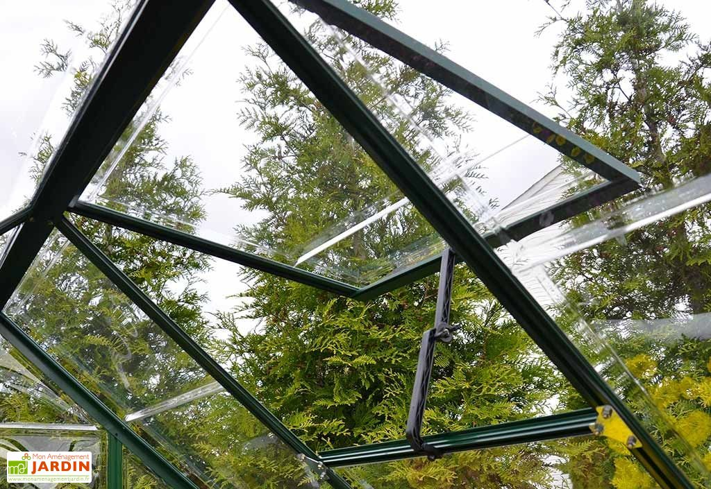 Serre de Jardin Verte Polycarbonate Aluminium 1 x 2 m – Harmony 6x4 ...