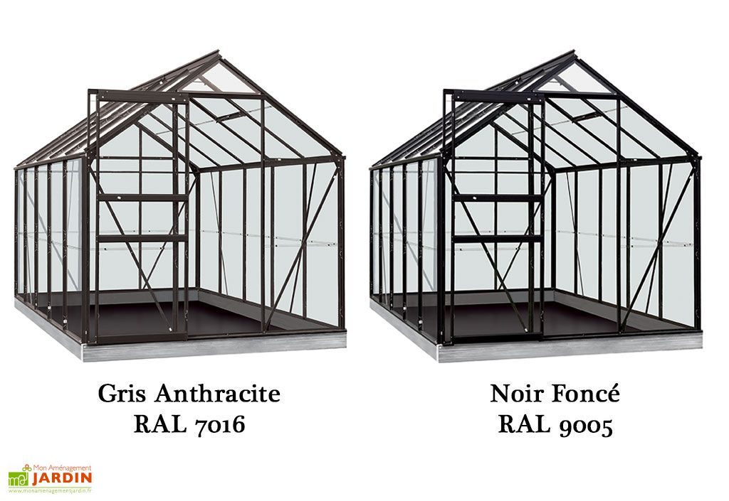 Serre Jardin Aluminium Polycarbonate Lily 6,2 m² – Plusieurs Coloris