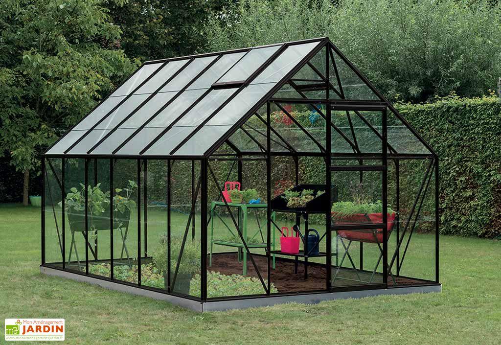 Serre Jardin Aluminium Polycarbonate Oliver 9,9 m² – Plusieurs Coloris