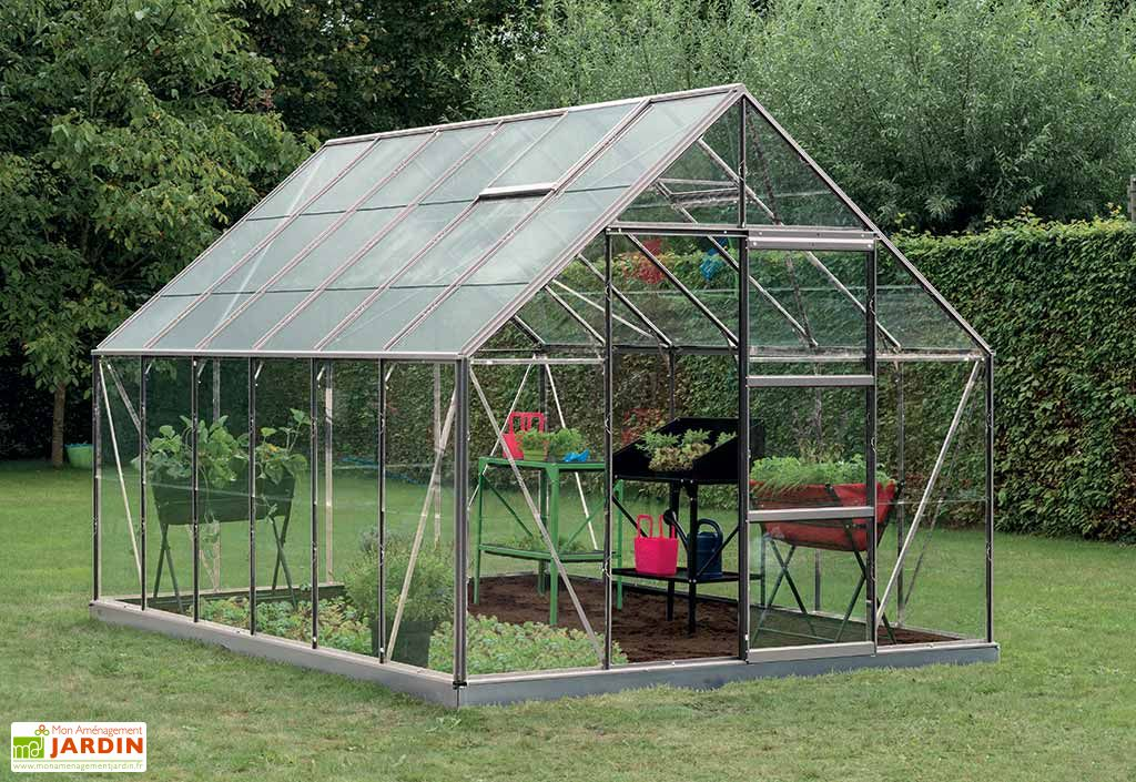 serre jardin aluminium polycarbonate oliver 9 9 m plusieurs coloris acd. Black Bedroom Furniture Sets. Home Design Ideas