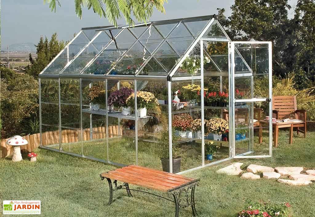 serre de jardin polycarbonate harmony silver 5 7m palram. Black Bedroom Furniture Sets. Home Design Ideas
