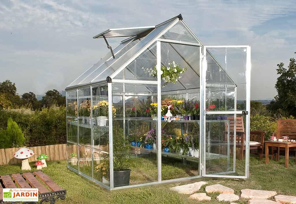 Serre de Jardin Polycarbonate Harmony Silver 3,4m²