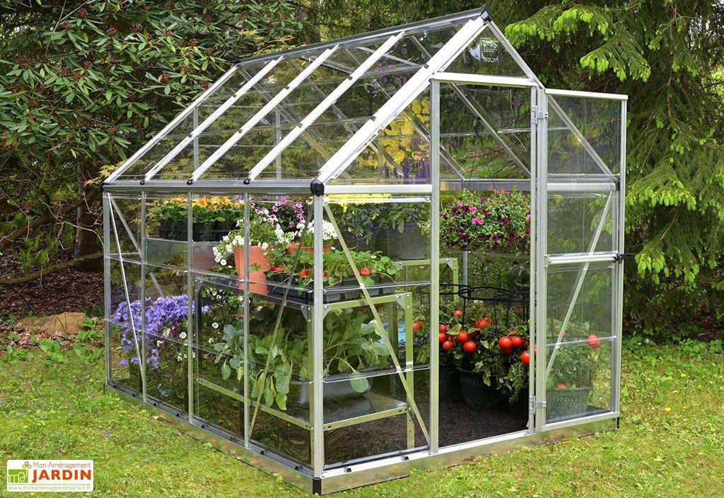 Serre de jardin en polycarbonate et aluminium Palram Harmony Silver