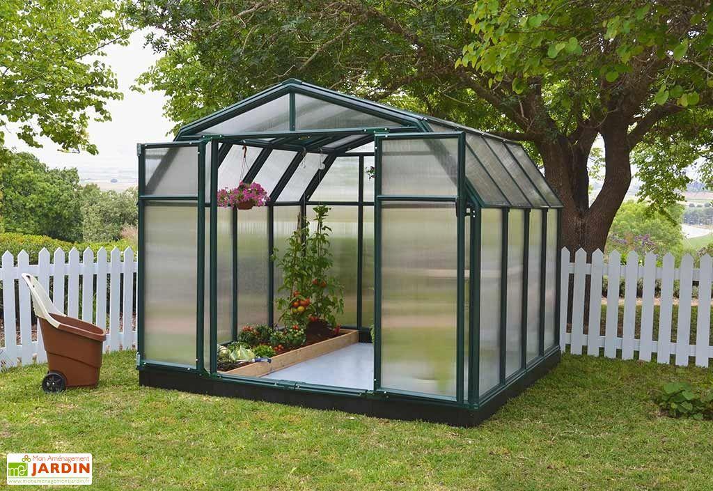 Serre de Jardin Polycarbonate et PVC 2,5 x 2,5 m – Hobby Gardener ...