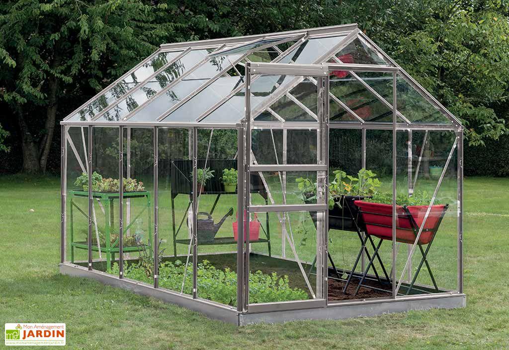 2520f16c433fc2 Serre Jardin Aluminium Verre Lily 6,2 m² – Plusieurs Coloris - ACD