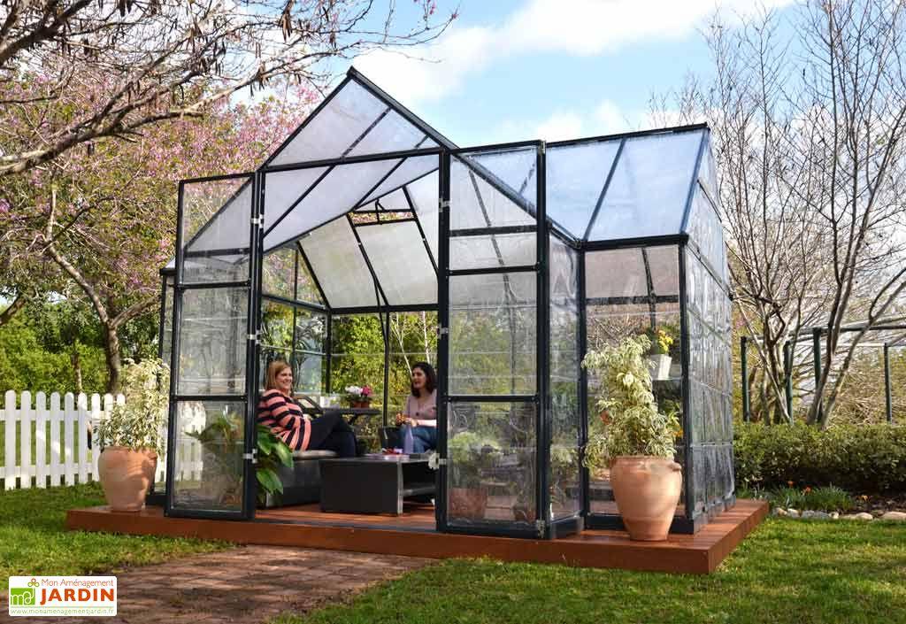 serre de jardin polycarbonate orangerie 365x305x269 palram. Black Bedroom Furniture Sets. Home Design Ideas