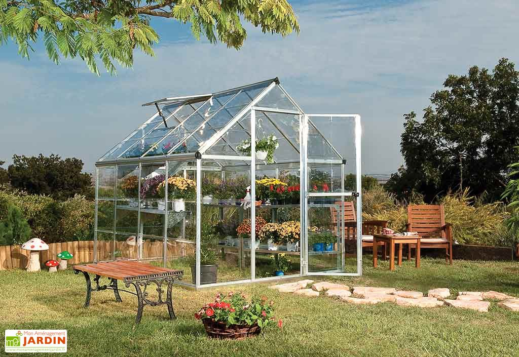 Serre de Jardin Polycarbonate Harmony Silver 4,6m²