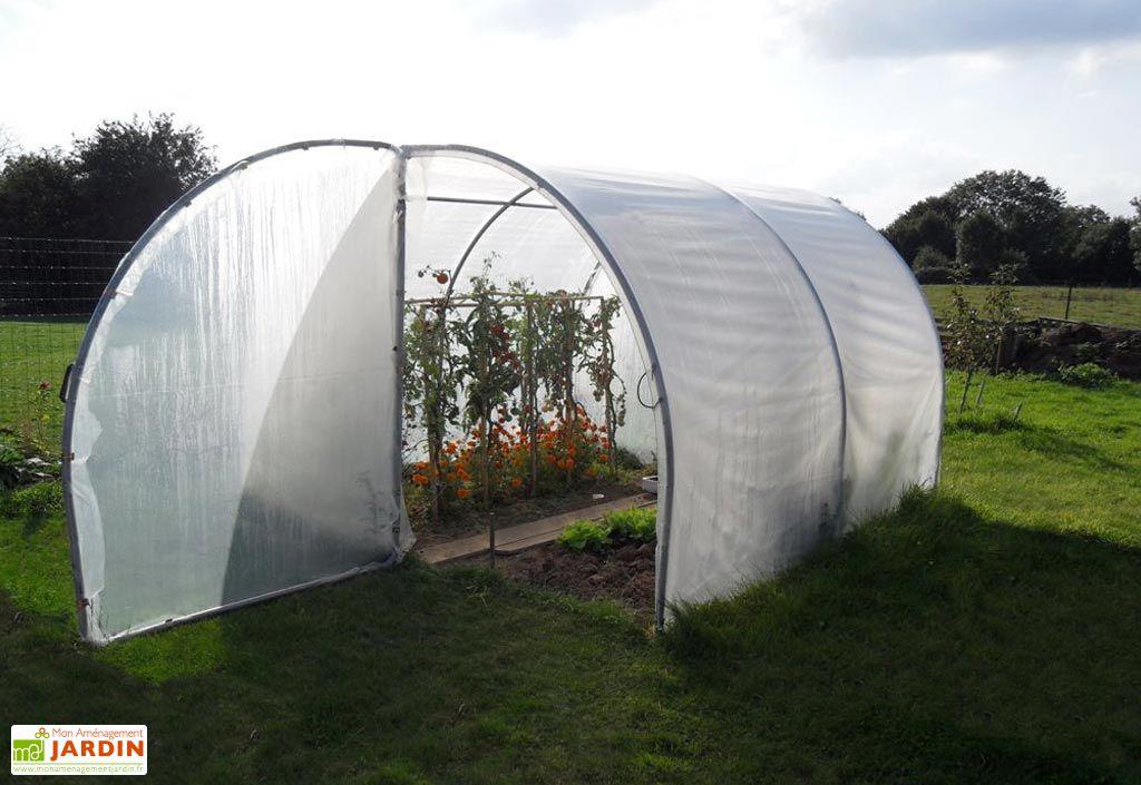 serre de jardin tunnel richel 3x3 pied droit 2x180 1. Black Bedroom Furniture Sets. Home Design Ideas