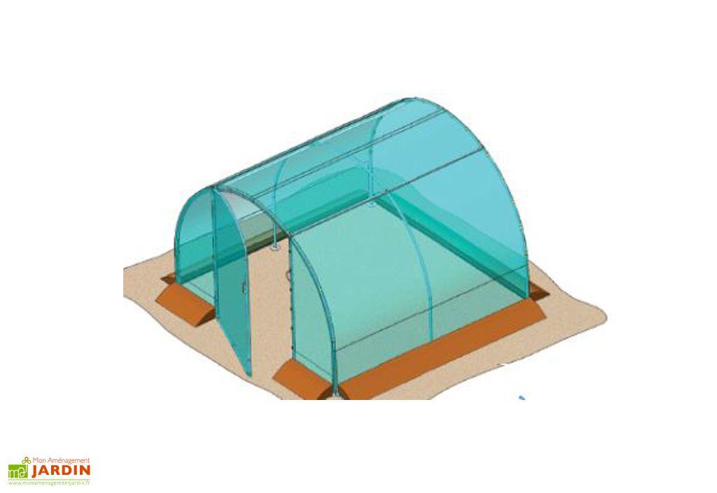 Serre de Jardin Tunnel Richel 3x3 Pied Droit 2x180µ 1 Porte