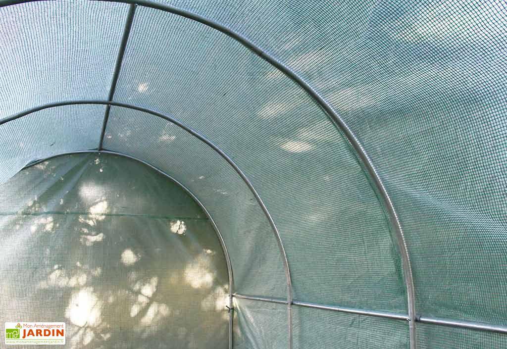 Serre de Jardin Tunnel 3x8, Polyéthylène Renforcé, 2 Portes Amovibles