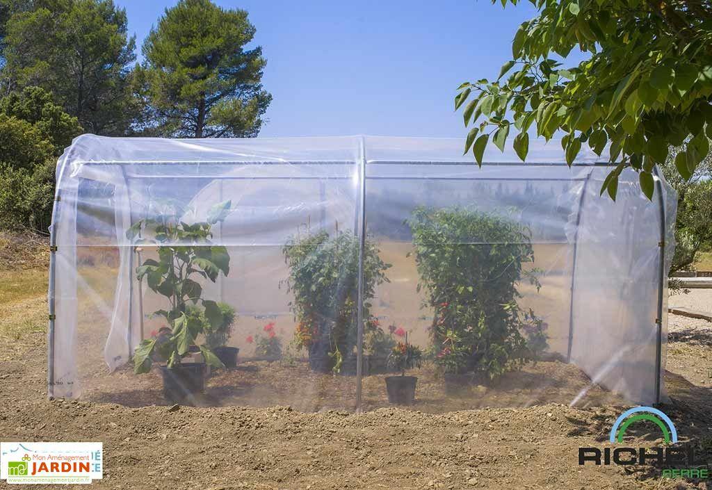 serre de jardin tunnel richel 4 x 2 m pied droit 200 1. Black Bedroom Furniture Sets. Home Design Ideas