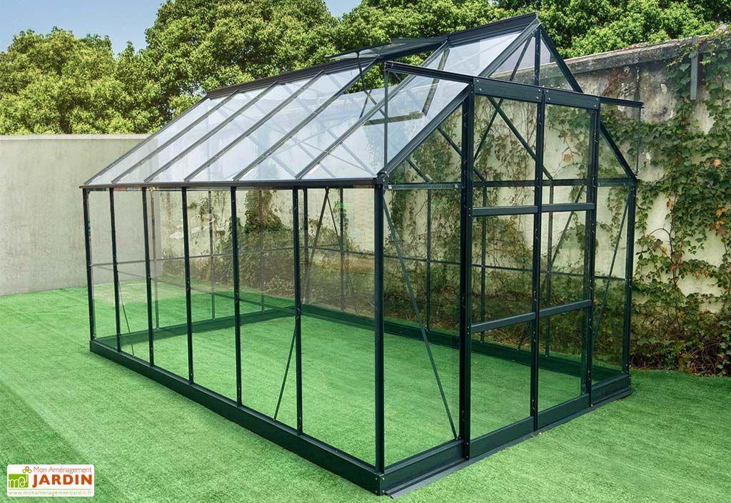 Serre de Jardin en Verre Trempé Green Protect 8,88 m² Gris