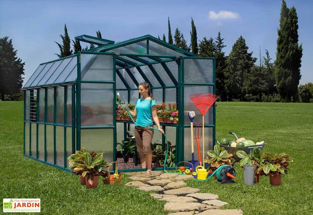 Serre de Jardin Polycarbonate Rion Cezanne (258x383x251)
