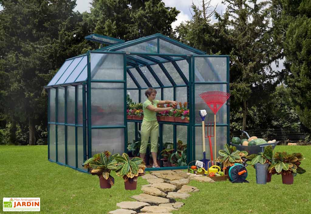 Serre de Jardin Polycarbonate Rion Cezanne (258x258x251)