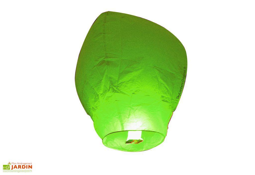Lot 10 Lanternes Volantes Vertes