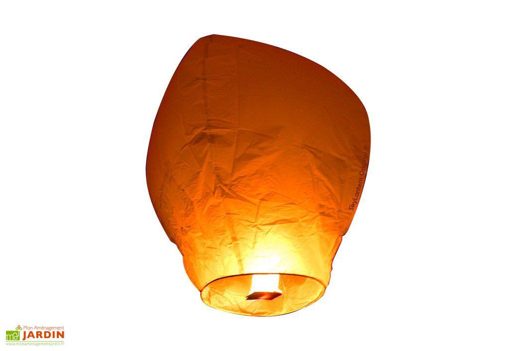 Lot 10 Lanternes Volantes Oranges