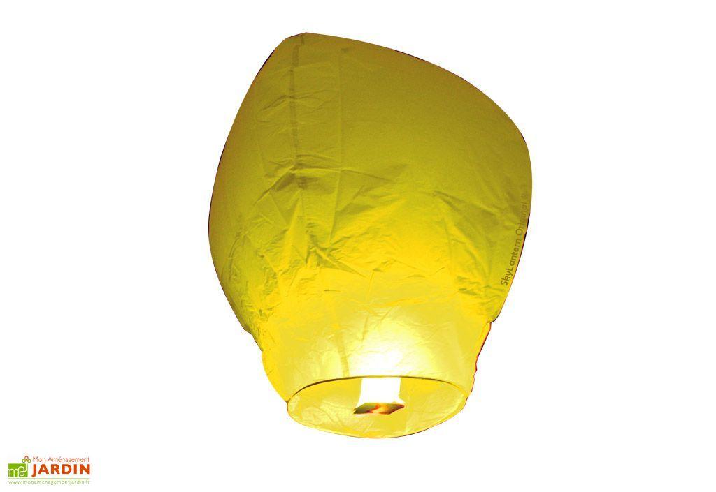 Lot 10 Lanternes Volantes Jaunes