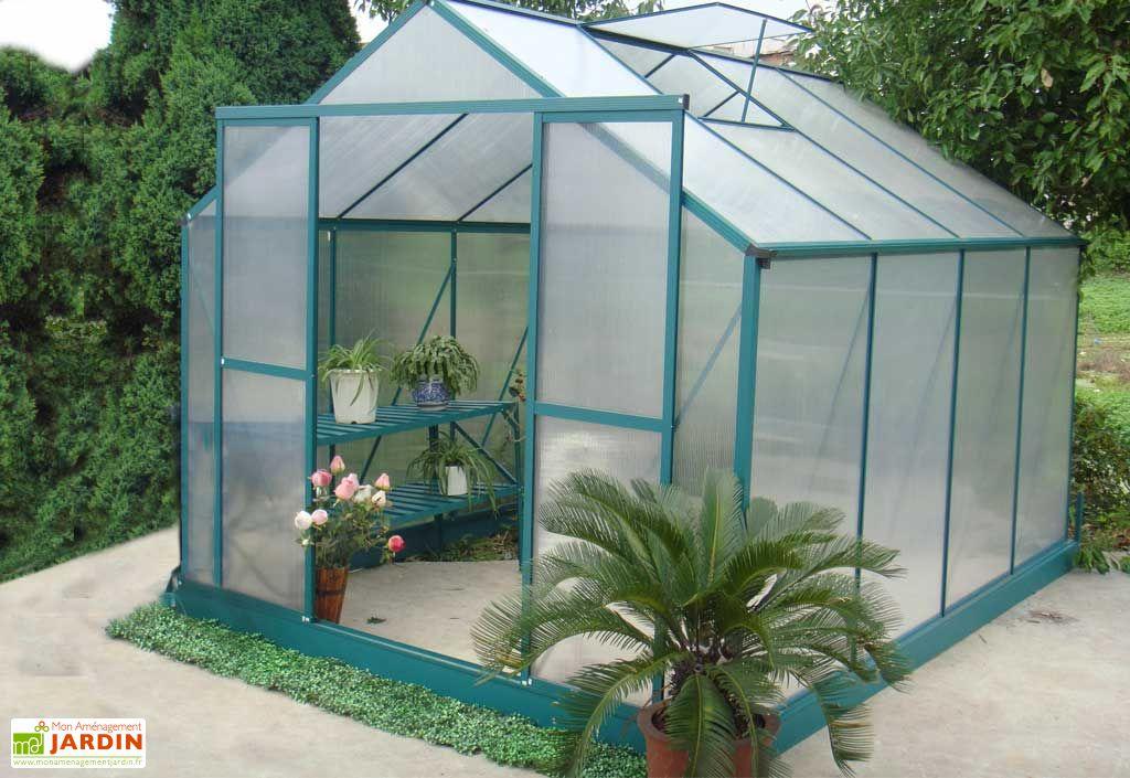Serre de Jardin Polycarbonate Iris (2,43x3x2,5) Livrée Montée