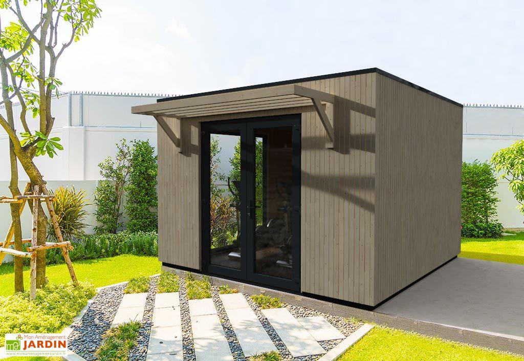 Studio de Jardin Modulable en Bois de Sapin Brut Décor et Jardin Como 13 m² dans Jardin