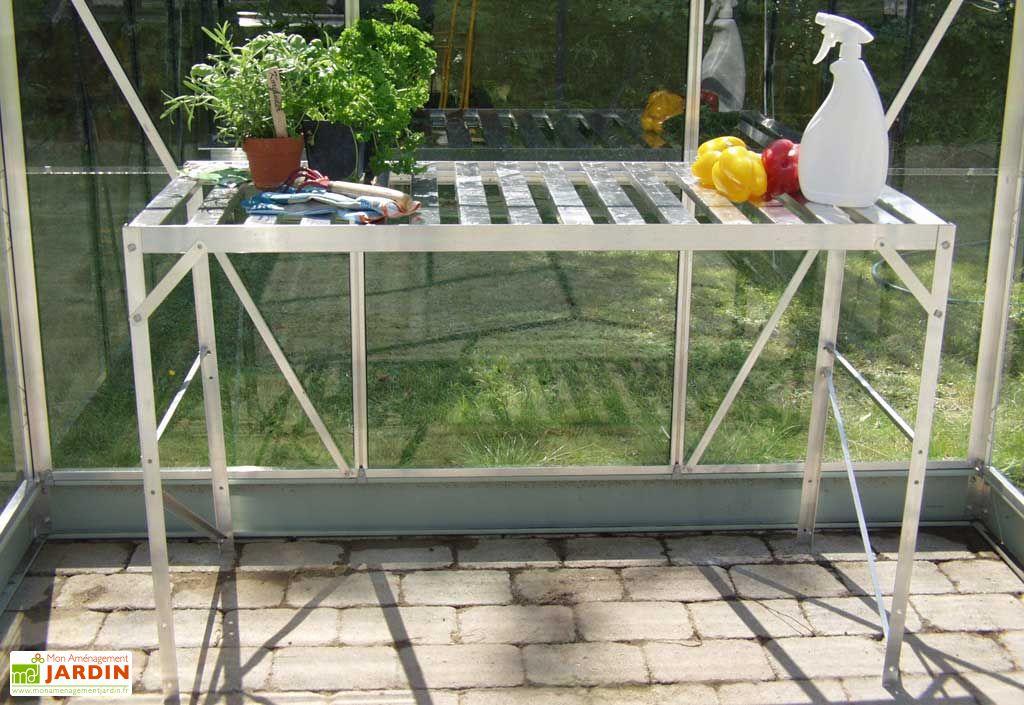 Table 1 plateau - Aluminium laqué vert