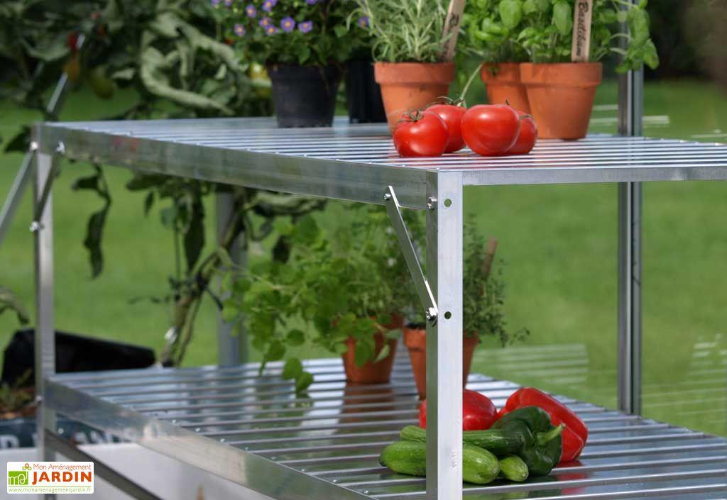 Table 2 plateaux - Aluminium laqué vert