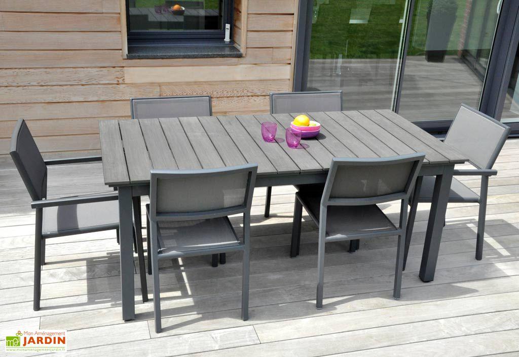 Table Jardin Watson Alu+Composite (180/250x100)