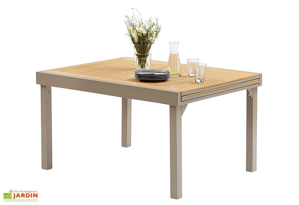 salon de jardin modulo table extensible en polywood 6 fauteuils wilsa. Black Bedroom Furniture Sets. Home Design Ideas