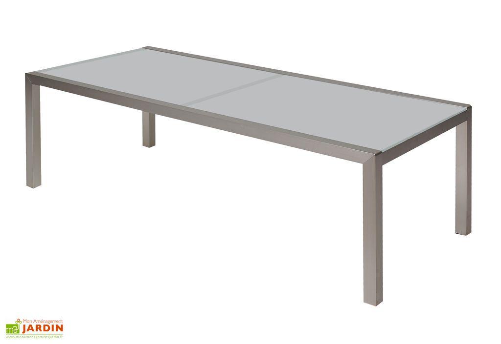 Table Jardin Verre Blanche (200x105)