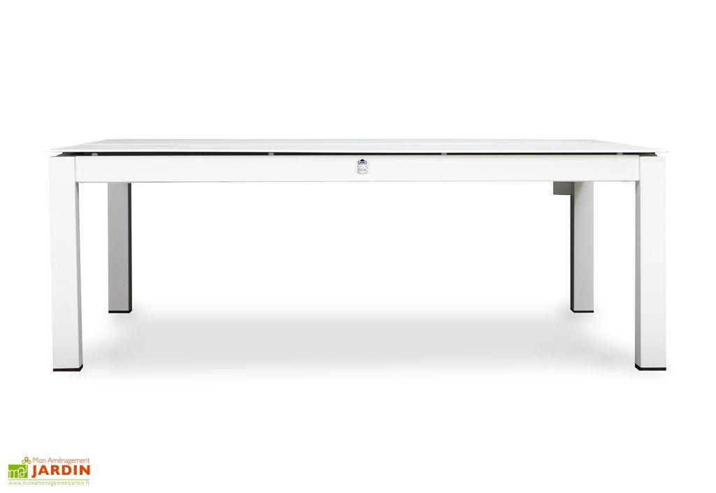 Table Basse de Jardin Papillon Aluminium Blanc Libelle 120x80cm