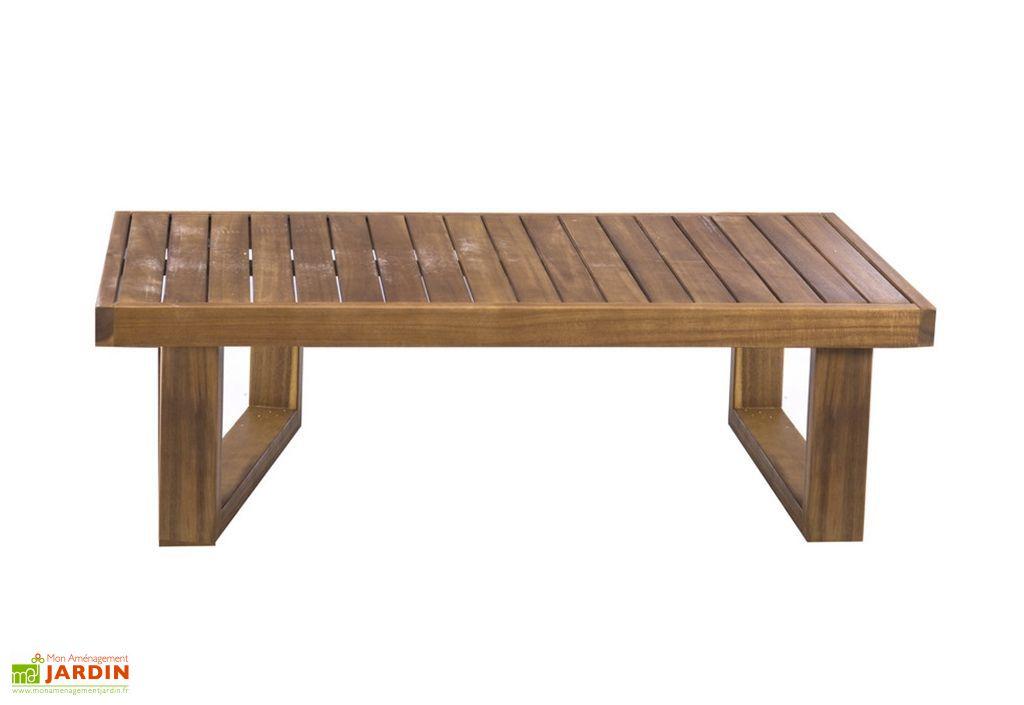 Table basse de jardin en bois d'acacia imputrescible