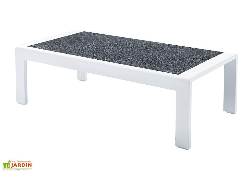 Salon de Jardin Orlando: 1 Sofa d'Angle + 1 Table