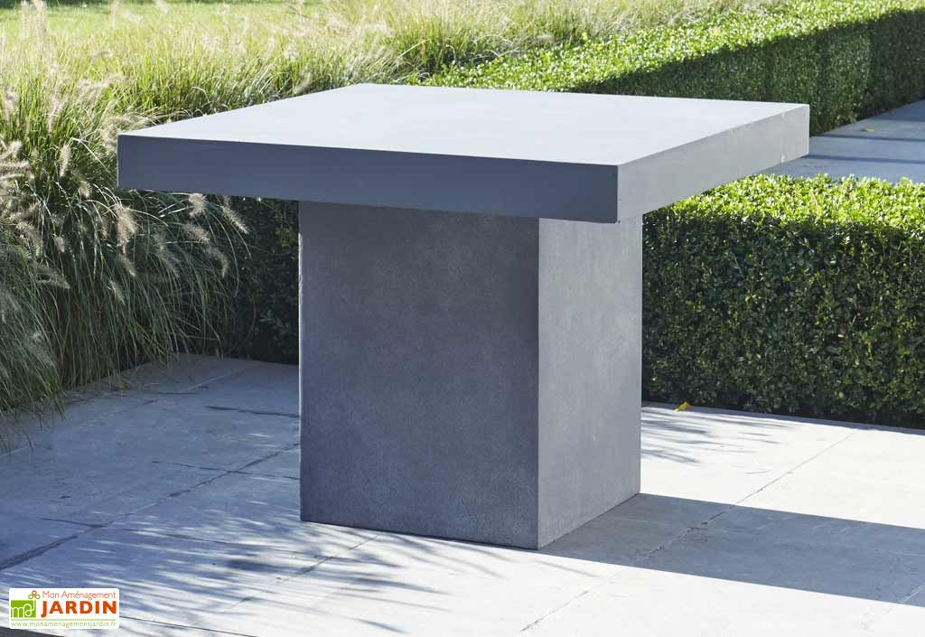Table de Jardin Béton Ciré (95x95x75)