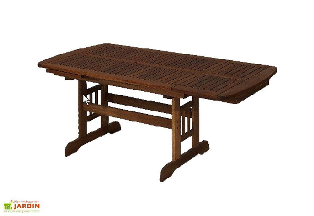 Table Jardin Bois Acacia + 2 Rallonges (150/190/230x100)