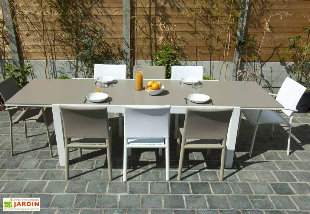 Table Aluminium Alton + Extension (200/300x100)