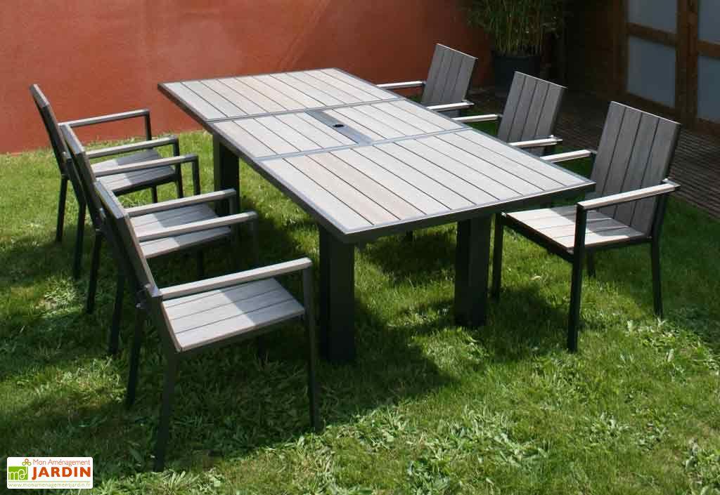 beautiful table jardin aluminium composite photos. Black Bedroom Furniture Sets. Home Design Ideas