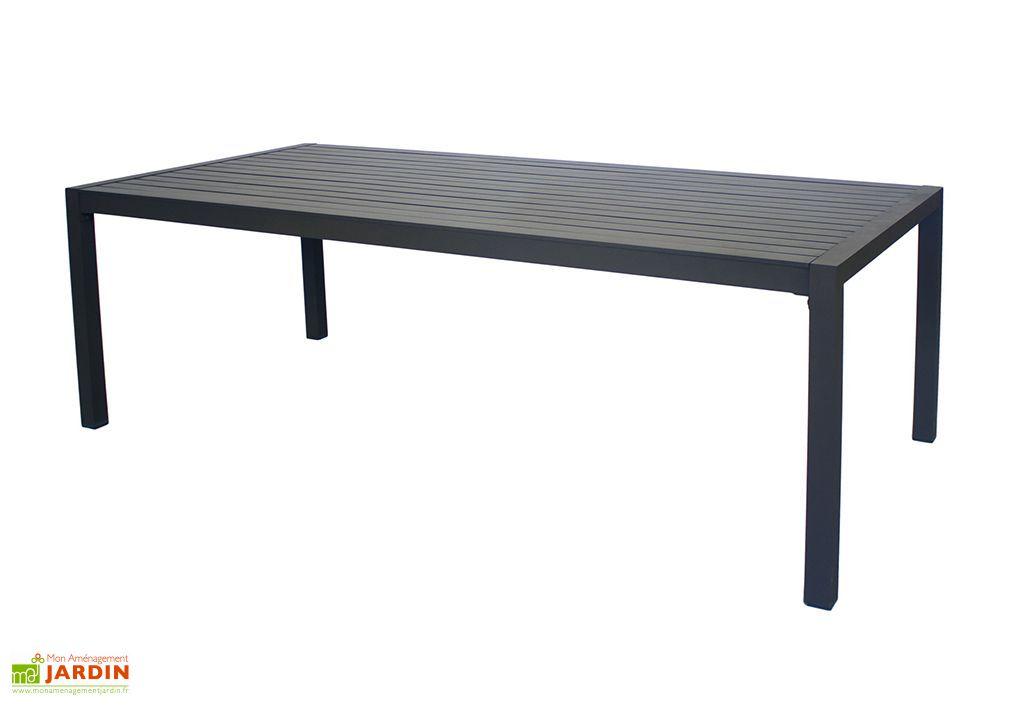 Table de jardin en aluminium anthracite Sarana