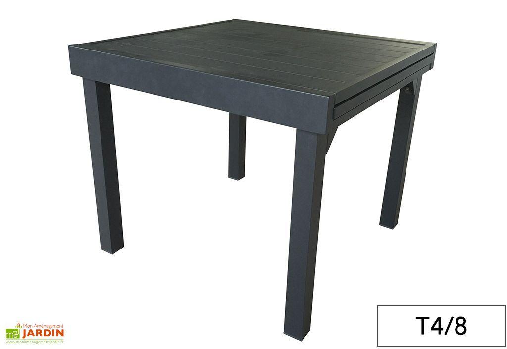 Beautiful table de jardin avec rallonge coulissante photos - Table de jardin avec rallonge coulissante ...