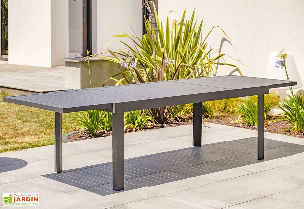 table de jardin extensible en aluminium copenhague 200 300 cm