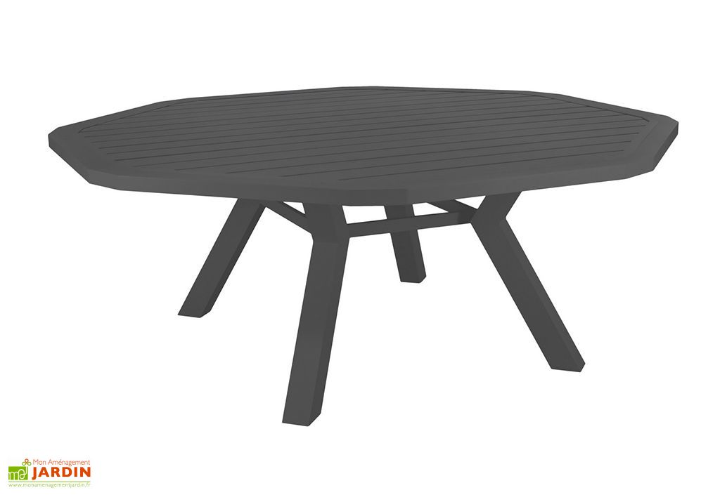 Table de Jardin Ronde en Aluminium Ambera 200 x 200 cm