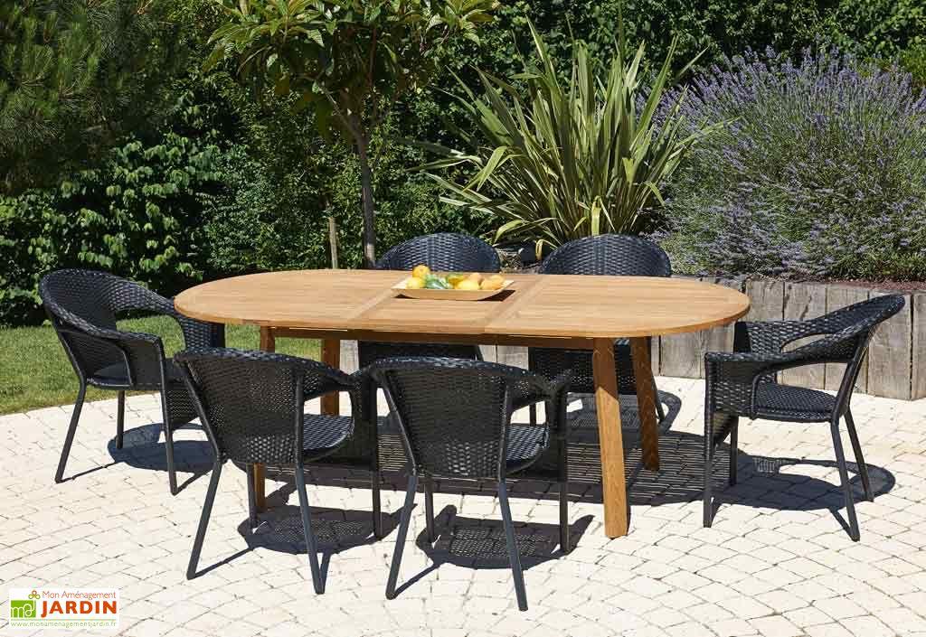 Table de Jardin Teck (170/220x100x72)