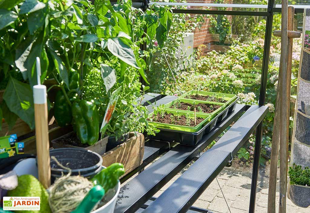 Table de Jardinage Aluminium pour Serre Halls Qube 610