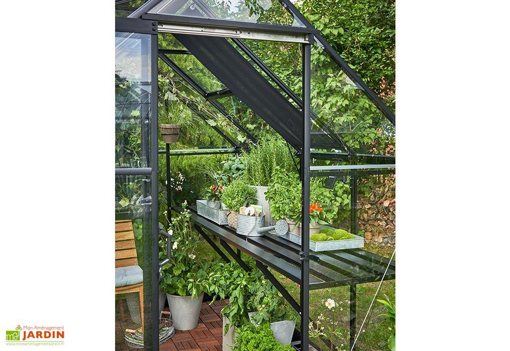 Table de Jardinage en Aluminium pour Serre Halls Qube 68