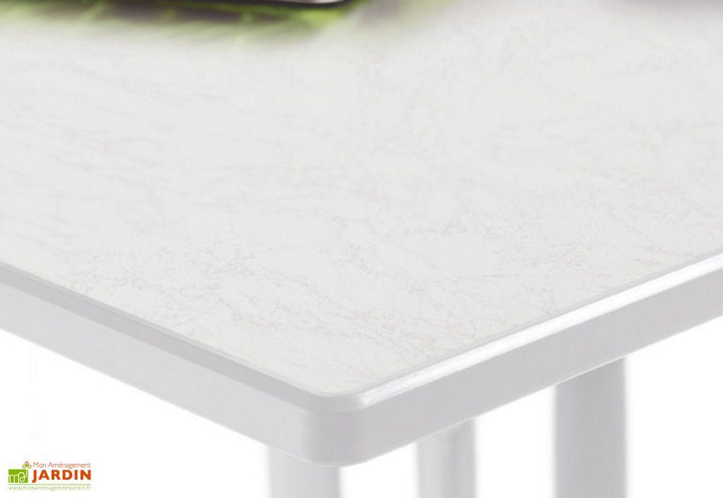 Plateau de table en puroplan marbre blanc